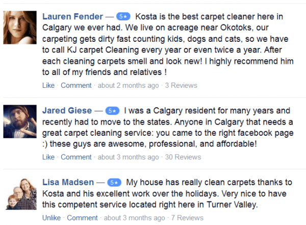 Carpet cleaning calgary reviews